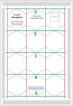 Quick and easy way to cut hexagon templates for English paper piecing - Geta's Quilting Studio