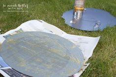 How to Antique a Mirror/paint remover on mirror backing - So Much Better With Age