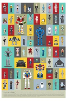 Chart: A Collection Of Famous And Iconic Robots From Pop Culture