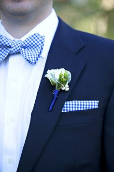 blue & white gingham - Dede Edwards photography on Style Me Pretty florida