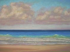 Seascape, Tropical Beach Painting by Nancy Poucher, painting by artist Nancy Poucher