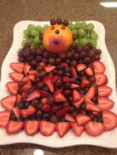 Amazing Perfect Baby Shower Fruit Tray!