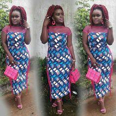 Mix Ankara dress