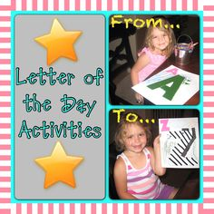The MeGown Family: Letter of the Day Activities Starts Here! Book Letters, Alphabet Book, Letter A Crafts, Letter Art, 3rd Baby, Baby Kids, Letter Of The Day, Daycare Ideas, Preschool Ideas
