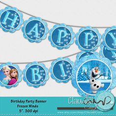 Frozen Winds Inspired Party Birthday Printable by ClaudellCrafts, $3.00