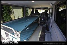 Sprinter with folding camp bunk beds