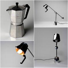 #Coffee, #Lamp, #Light, #Pot, #Upcycled