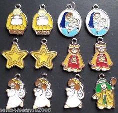 12 Enamel Nativity Religious Holiday Charms Earrings or Bracelet Making F1 on eBay!