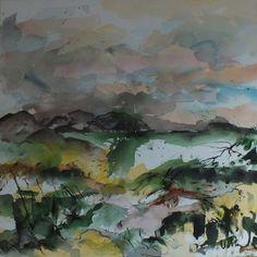 "Jac Volbeda  Painting ""Baleshare 2"" #volbeda #art    100 x 100 cm"