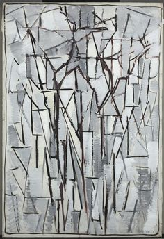 Piet Mondriaan [1872-1944] Compositie bomen 2 1912-1913 hoogte 98 cm breedte 65 cm olieverf op doek Gemeentemuseum Den Haag