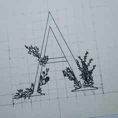 """the """"A""""   #a #typo #word #words #art #drawing #herbs #wordwithherbs #abc #guides"""