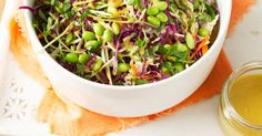 This delicious Asian-style coleslaw makes a healthy side dish to serve with fish or chicken.