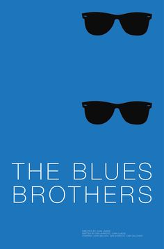 The Blues Brothers (1980) ~ Minimal Movie Poster by Andrew Lynne #amusementphile
