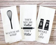 Funny Song Lyric Tea Towels Chop It Like It's Hot by A2DCreations