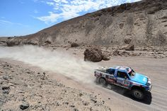 Eric Vigouroux and co-pilot Jean Brucy of team Chevrolet compete in stage 5 from Arequipa to Arica during the 2013 Dakar Rally on January 9, 2013 in Arequipa, Peru.