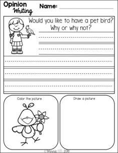 Kids Coping Skills, Writing Station, English Grammar Worksheets, Reading Comprehension Worksheets, Teaching Kids, Teaching Resources, English Language Arts, School Fun, Writing Prompts