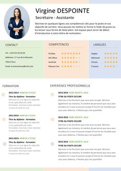 If you like this design. Check others on my CV template board :) Thanks for sharing! Resume Design Template, Cv Template, Templates, Conference Poster, My Cv, Administrative Assistant, Self Motivation, Job Search, Coaching