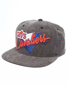 The Cleveland Cavaliers Crease Triangle Script Snapback by Mitchell & Ness!