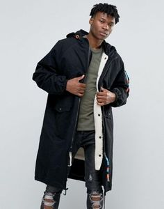 The New County Longline Parka With Borg Lining