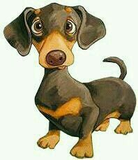 How Cute Is This Dachshund Dog Illustration Dog Paintings Dog