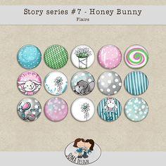 SoMa Design: Honey Bunny Flairs Honey Bunny, Digital Scrapbooking, Design, Art, Craft Art, Kunst, Gcse Art, Design Comics