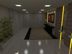 Hall Social - Área Comum de Ed. Residencial