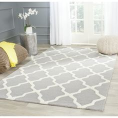 Alliyah Handmade Bluish-Grey New Zealand Blend Wool Rug (8' x 10') - 13362610 - Overstock Shopping - Great Deals on Alliyah Rugs 7x9 - 10x14 Rugs