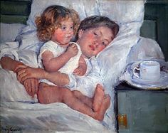 One of my most famous pieces of art by Mary Cassatt. I want a framed copy for my bedroom. :)