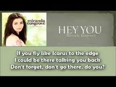 Daedalus And Icarus, Miranda Cosgrove, Hey You, Don't Forget, The Unit