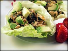 Paleo Lettuce Wraps - These take literally less than 30 minutes to make. The leftovers are awesome cold and would be great for lunch. Only drawback, they're a little messy. Well, Brandon is usually the messy eater and didn't have a problem, but myself, the neat one, had the sauce dripping down my hands. Nothing I