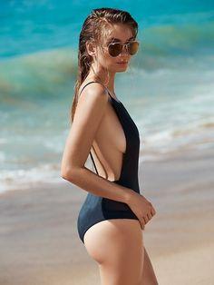 c290437047 Women s Solid Color Spaghetti Strap Scoop Back One Piece Swimsuit One Piece  Swimwear