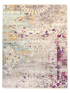 Graphic Hand-Knotted Wool Rug (8'x10') by FJ Kashanian at Gilt
