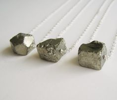 PYRITE STERLING NECKLACES