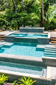 Soak up some Costa Rican rays at the cascading infinity pool. #Jetsetter