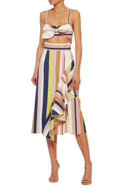 Stripe Claire Dress by TANYA TAYLOR Now Available on Moda Operandi