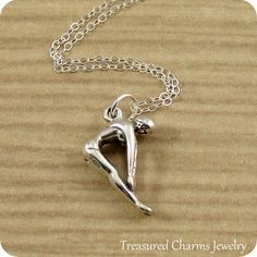 Female Diver Charm in Sterling  Silver