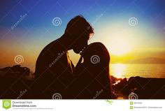 Couple Kissing On The Beach - Download From Over 60 Million High Quality Stock Photos, Images, Vectors. Sign up for FREE today. Image: 93210559