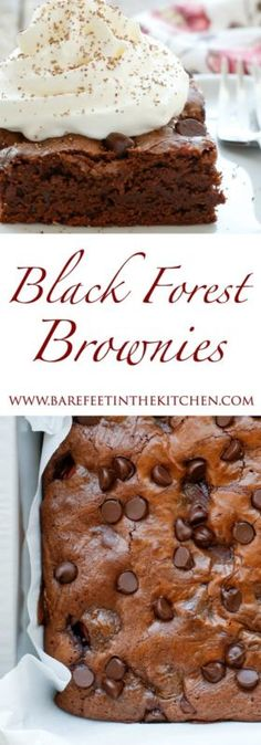 Black Forest Brownies are gooey fudge brownies filled with plenty of cherries, chocolate, and a hint of almonds. My husband's all-time favorite cake is a classic Black Forest Cake and we've been on quite...
