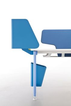 Nouvelle Vague office system by Emmanuel Gallina for Clen Office Workstations, Home Office Desks, Office Furniture, Office Table Design, Housewives Of New York, System Furniture, Real Steel, Design Lab, Table Desk