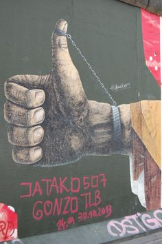 Like the Wall Berlin Street, Street Art, Dog Tag Necklace, Graffiti, Wall, Walls, Graffiti Illustrations, Street Art Graffiti