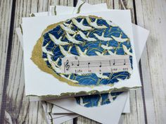 Life is a Journey Bird Art & Music Notecard Set by YourSongDesigns
