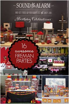 16 Fireman Birthday Party Ideas - Spaceships and Laser Beams