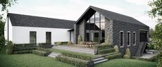 Regarded as one of Northern Irelands leading practices 2020 are widely-respected for their striking designs and sustainable approach to architecture. Modern Barn House, Modern Bungalow House, Rural House, Modern House Plans, Home Design Floor Plans, House Floor Plans, House Designs Ireland, House Cladding, Facade House
