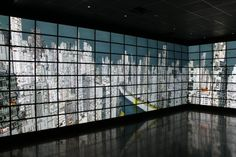The Reality Deck is a unique visualization facility, located at the Center of Excellence in Wireless and Information Technology (visitor information) of Stony Brook University. Supported by the National Science Foundation and Stony Brook University, the Reality Deck is the world's first immersive gigapixel resolution display, offering more than 1.5 billion pixels.