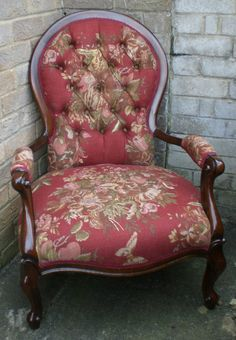 Victorian ladies parlour chair..would look great with settee received as Xmas gift 2012!