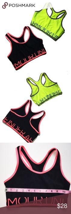 Bundle of Two Under Armour Sports Bras This is for a bundle of two Under Armour Sports bras. Size small. They have a nice thick elastic band. These are in excellent condition. Under Armour Intimates & Sleepwear Bras