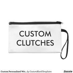Custom Personalized Wristlet Clutch Blank Template