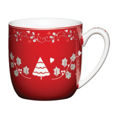 Kitchencraft Porcelain Mug, Red