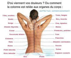 Douleurs du corps qui viennent de la colonne vertébrale