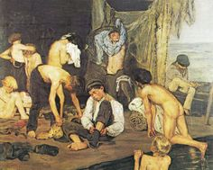 In the swimming pool by Max Liebermann